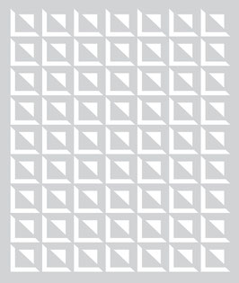 BasicGrey Aurora Small Square Grid Stencil