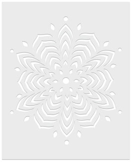 Hero Arts Star Snowflake Stencil