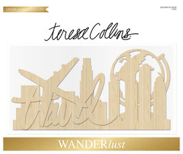 Teresa Collins Wanderlust Decorative Wood Pieces