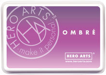 Hero Arts Ombre Ink Pad: Light to Dark Purple