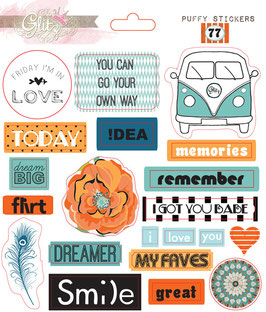 Glitz Design 77 Puffy Stickers