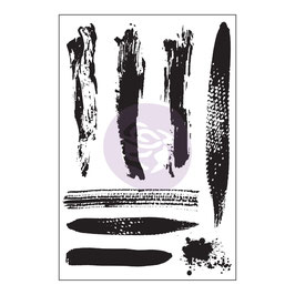 Prima 4x6 Cling Stamp - Brush Strokes