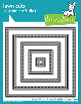 Lawn Fawn: Lawn Cuts Large Stitched Square Stackables