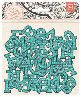 BasicGrey Spice Market Printed Chipboard Alphabet