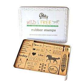 Glitz Design Wild & Free Stamp Tin