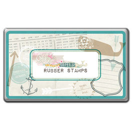Glitz Design Uncharted Waters Rubber Stamps Tin
