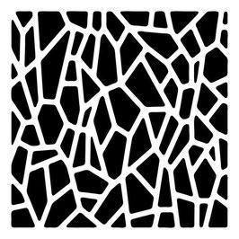 Rhonda Palazzari 6x6 Stencil: TCW388s Giraffe Print