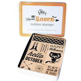 Glitz Designs Raven Stamp Tin