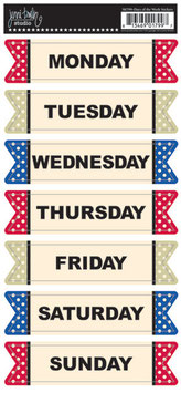 Jenni Bowlin Banner Stickers - Days of The Week