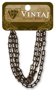 Vintaj Natural Brass 4mm Flat Ornate Chain (CH0014R)