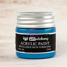 Finnabair Art Alchemy Acrylic Paint: Metallique Rich Turquiose