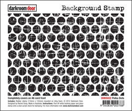 Darkroom Door Background - Polka Dots