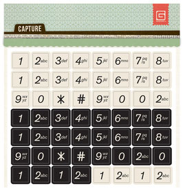 BasicGrey Capture Printed Chipboard Numbers