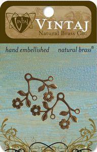 Vintaj Natural Brass Blossoming Duet