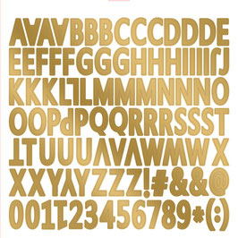 MME On Trend Gold Foiled Chipboard Stickers