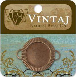 Vintaj Natural Brass 22mm Game Piece Bezel