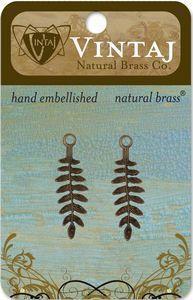 Vintaj Natural Brass Delicate Fern Charm (FS0001R)