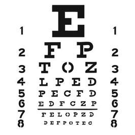 Dina Wakley Template: TCW349 Eye Chart