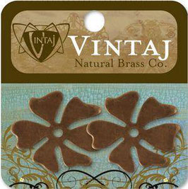 Vintaj Natural Brass Altered Blanks - Hawaiian Flower
