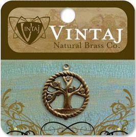 Vintaj Natural Brass Tree Of Life