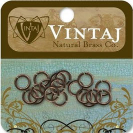 Vintaj Natural Brass 7.25mm Jump Rings
