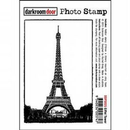 Darkroom Door Cling Foam Mounted Photo Stamp: Eiffel Tower