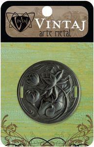 Vintaj Arte Metal Waterlily Ribbon Slide