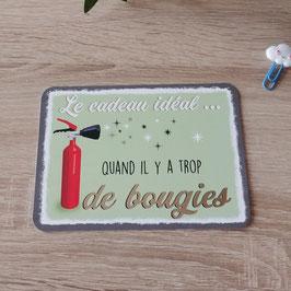 Carte postale le cadeau idéal quand il y a trop de bougies