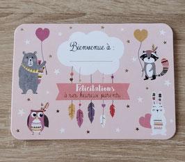 Carte postale personnalisable naissance little girl