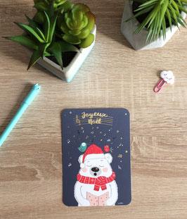 Carte postale ours joyeux noël