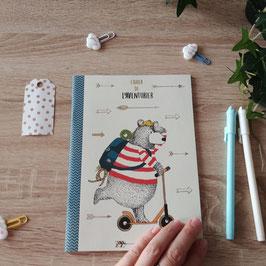 Cahier de l'aventurier - Ours trottinettes  A5