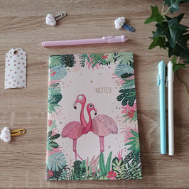 Cahier A5 flamand rose