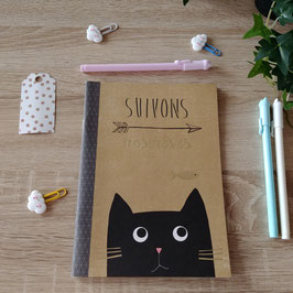 Cahier chat - suivons nos rèves  A5