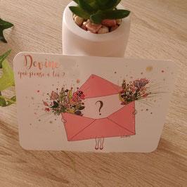 Carte postal devine qui pense à toi ?