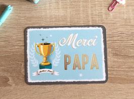Carte postale merci papa