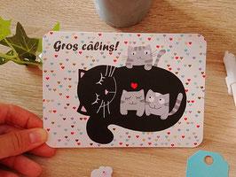 Carte postale gros câlins !