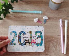 """Carte postale """"une chouette nouvelle année"""""""