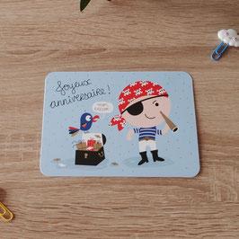 Carte postale joyeux anniversaire - pirate