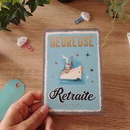 Carte postale heureuse retraite