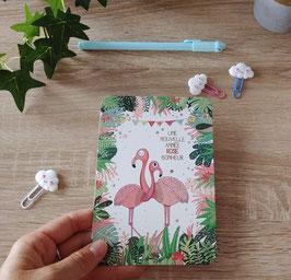 Carte postale flamands roses - une année rose bonheur