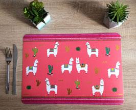 Set de table cactus et lamas