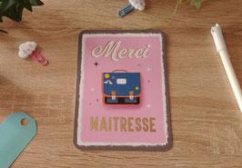 Carte postale merci maîtresse