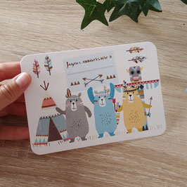 Carte postale personnalisable joyeux anniversaire - ours