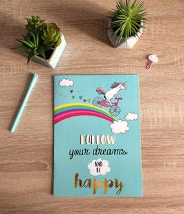 "Carte XL ""Follow your dream and be happy"""