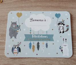 Carte postale personnalisable naissance little boy