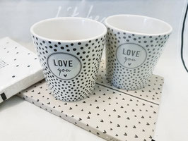 BC Becher White/ Love You & Dots