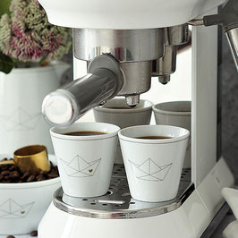 """Krasilnikoff Espresso Cup 649 """"Paperboat with Heart"""""""