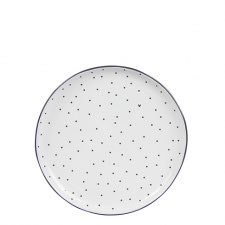 Bastion collections teller cake plate little dots&heart in black