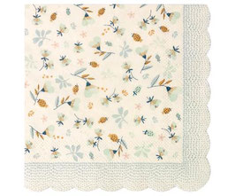 NAPKIN, FLOWER FIELD, BLUE, ca. 12.5X12.5CM 15-7301-00