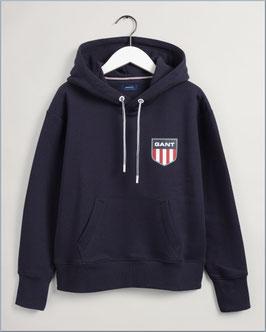 GANT retro shielt hoodie evening blue